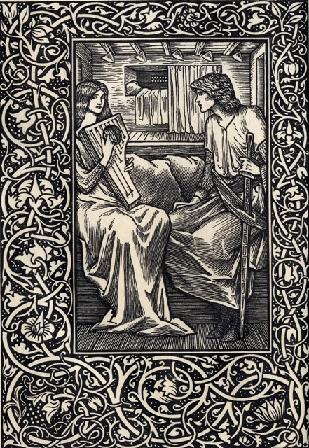 One of Caaroline Watts' illustrations to 'Tristan and Iseult', translated by Jessie L. West and published by David Nutt, 1902