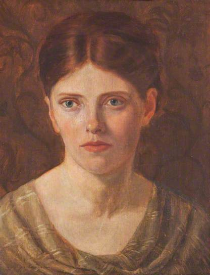 Isabella Townshend, self-portrait, (c) Girton College, University of Cambridge. Supplied by The Public Catalogue Foundation