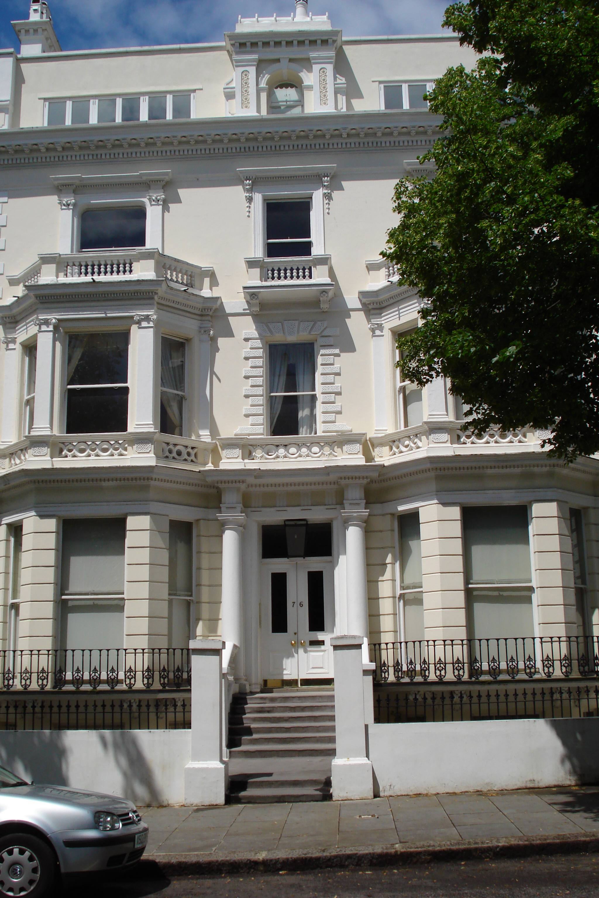 76 Holland Park - once the Lowys' home - and one from which they were all absent on Census Night, 1911