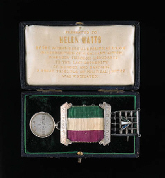 Helen Watts' suffragette memorabilia (courtesy of Christie's website)
