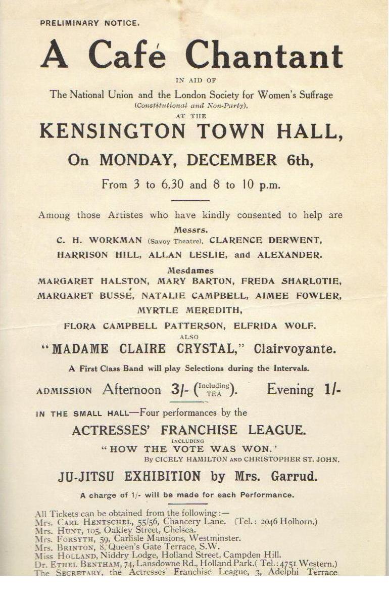 Cafe Chantant NUWSS Dec 1909 - Copy