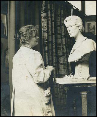 Edith Downing in her studio