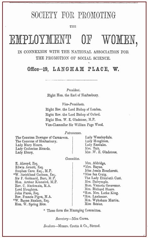 Notice that appeared in the Alexandria Magazine, May 1st, 1864. NB Isa Craig as member of the committee
