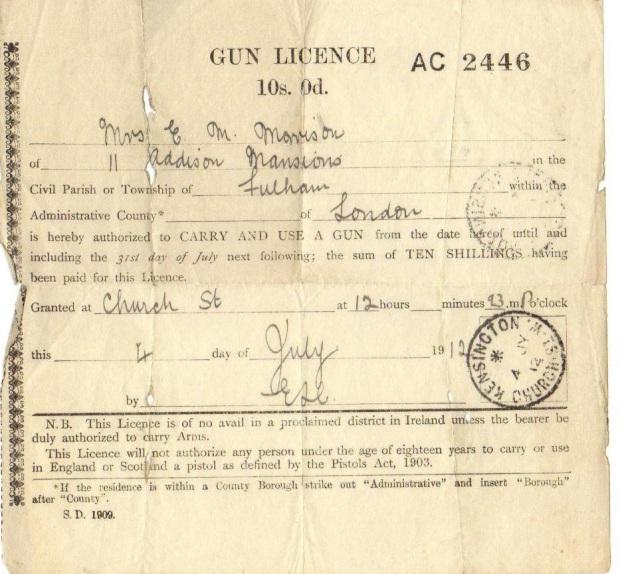 Morrison gun licence