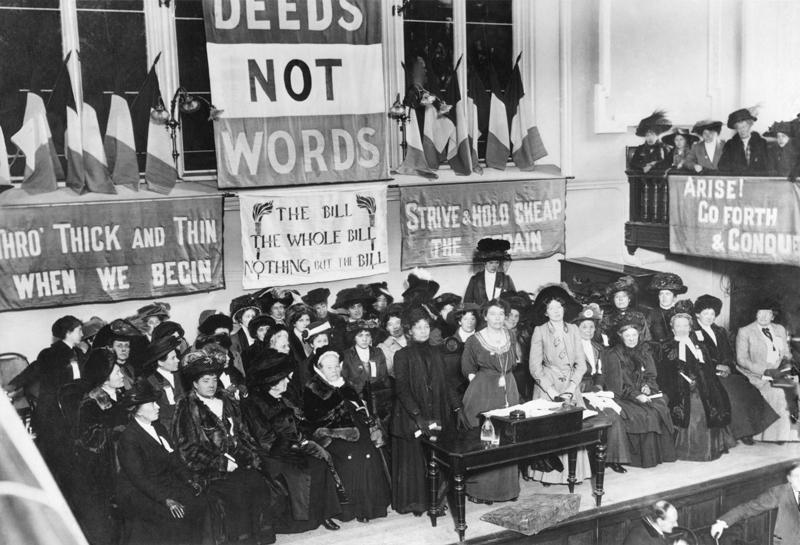 Pankhurst meeting flags