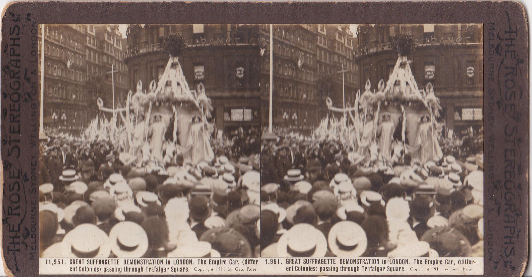 The 'Empire Car' - Suffrage Coronation Procession, 1911
