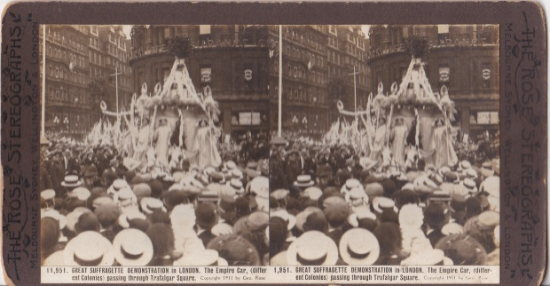 The 'Empire Car' - Suffrage Coronation Procession, 1911