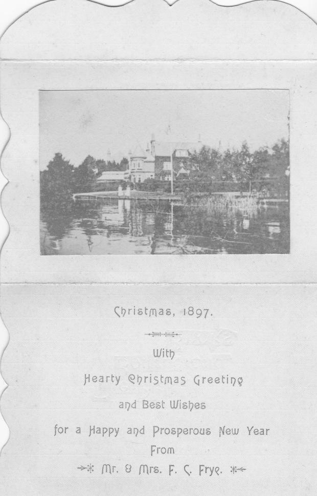 Frye's xmas card 1897 inside