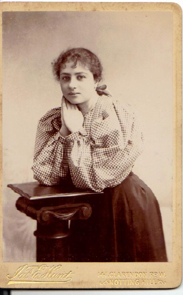 Kate Frye photographed in 1896