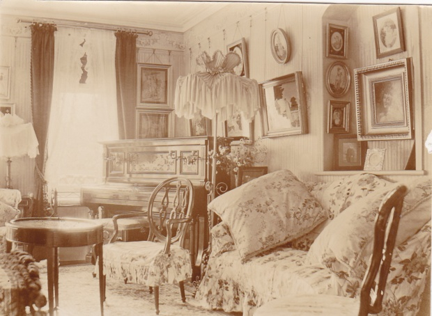 The Drawing Room at the Plat. I wonder where the Christmas Tree stood in 1897?