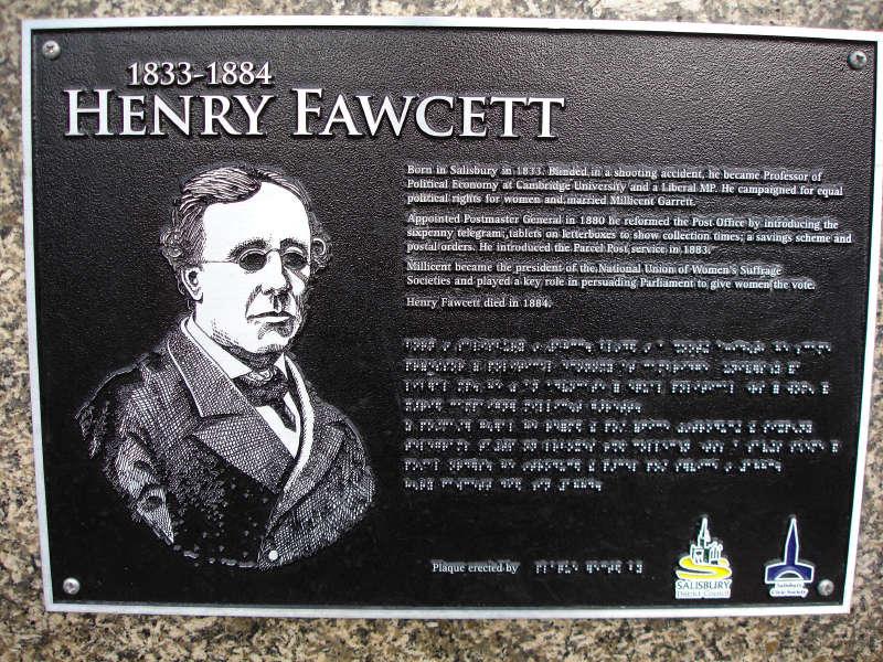 HEnry Fawcett plaque