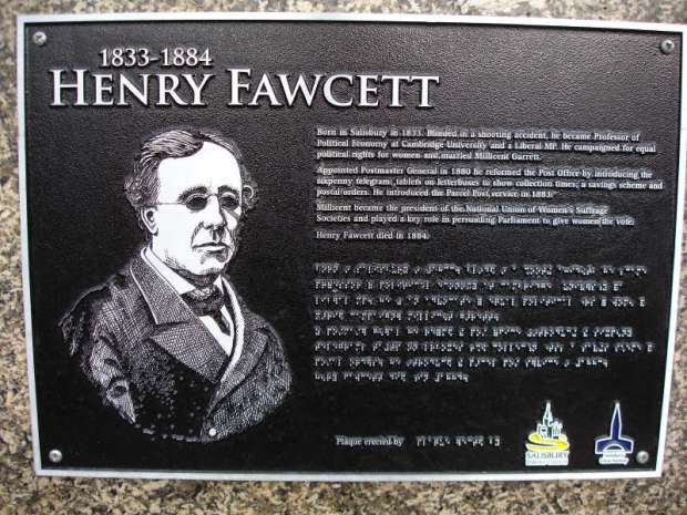 HEnry Fawcett plaque
