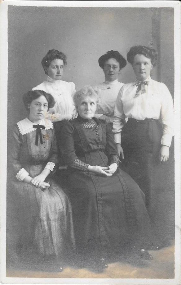 964e88d6f7d Women of the Hodgson family. With mother, Jemima, in the centre it is  thought that Grace is on her right, with Mabel back left, next to Florence  and with ...